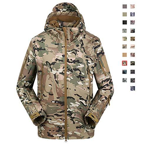 Military Ba Men's Cheyenne Hooded Work Jacket-CP Camouflage -