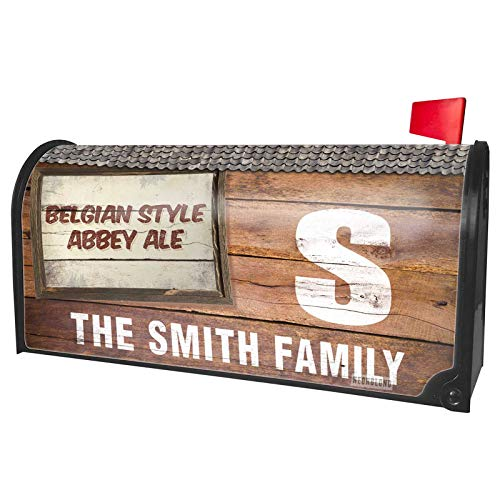 NEONBLOND Custom Mailbox Cover Belgian Style Abbey Ale Beer, Vintage Style