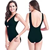 One Piece Swimsuits for Women,V neck Sexy Bathing Suits,Swimwear
