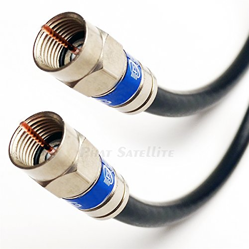 75ft DIRECTV APPROVED 3Ghz SIAMESE DUAL SOLID BARE COPPER RG6 COAXIAL CABLE 18AWG WEATHER SEAL ANTI CORROSION BRASS CONNECTORS UL ETL HD SATELLITE CUT TO ORDER ASSEMBLE IN USA ()