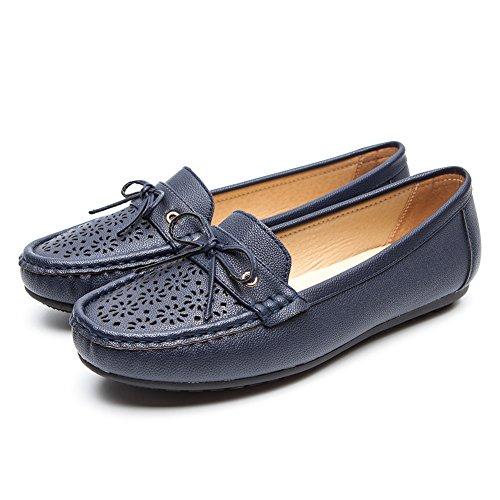 con Migliore Platform Donna Le Pelle Mocassini la Scarpe Zeppa Stagioni Scelta Loafers Donna Tutte Flat Scarpe per Blue3 per Nero Cestfini Camminare per Comode waqpff