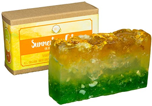 AIRA Handmade Organic Soap – Herbal Body Soap Infused with Orange, Lemon, Lime Extract – Certified Organic Ingredients  Therapeutic Essential Oils – …