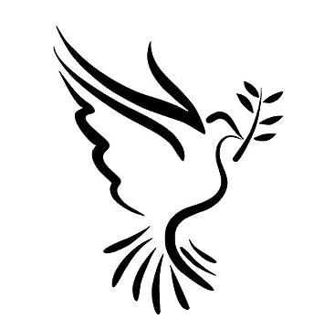 Diy Decal Etiqueta de La Pared Decoración Paz Paloma Coche Vinilo ...