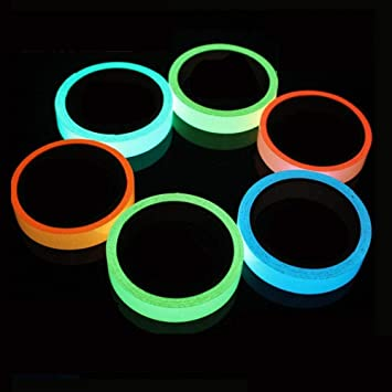 Hrain Verde/Azul/Naranja 1CM-5CM Etiqueta Adhesiva de ...