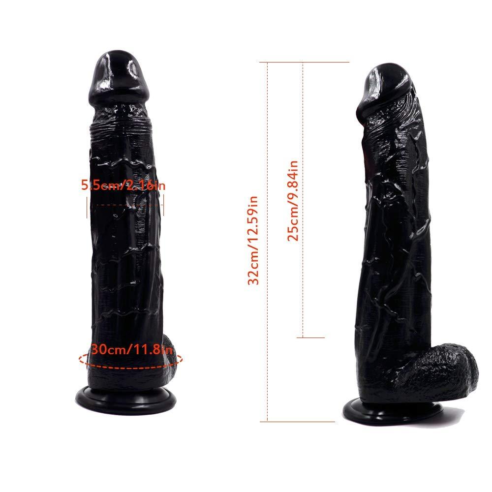 Tjxxaq Consolador de Silicona Capas Pura de Dos Capas Silicona Suave Exterior y Firme Interior del pene con Ventosa Fuerte Real Dong Penis Replica, 33 cm, Flesh b487fd