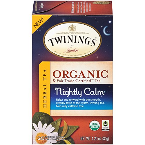 Twinings of London Organic and Fair Trade Certified Camomile with Mint & Lemon Herbal Tea Bags, 20 Count (Pack of 1)