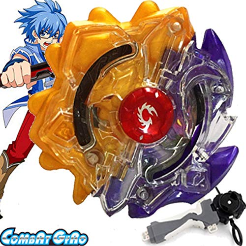 ution Bey Battle Booster Starter Gyro Bay with Launcher Grip Kit B-00 Limited Duo Eclipse Sun Moon God 7S.U Games Blades Bey Set Battling Top Funny Spinning Toy Gift for Boys Kids ()