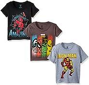Marvel Boys' Toddler Boys' Super Heroes 3 Pack T-Shirt Bundle