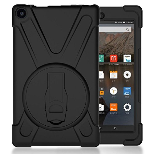 Feite Rubber Hybrid Hard Case Cover Stand Holder For Amazon Kindle Fire (Fire Onyx 1 Light)