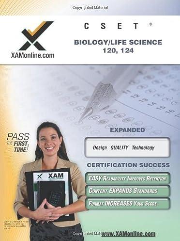 amazon com cset biology life science 120 124 teacher certification rh amazon com Gymnosperms Study Help Biology Final Exam Review