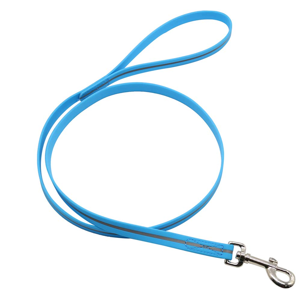 bluee S bluee S Pet Supplies Traction Belt PVC Durable Belt Waterproof Reflective Dog Traction Rope Multicolor Optional Small Medium (color   bluee, Size   S)