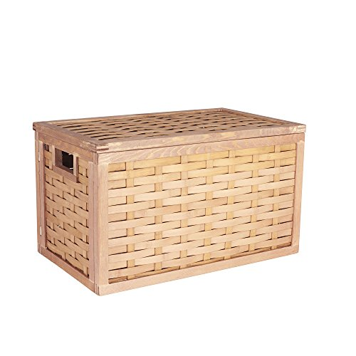 Household Essentials ML-5670 Large Wicker Storage Box with Lid - 11.4