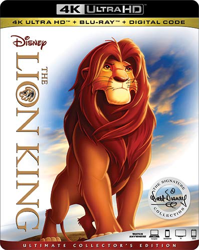 4K Blu-ray : The Lion King (With Blu-ray, 4K Mastering, Dolby, AC-3, Dubbed)