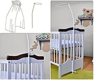 Universal Canopy Drape Holder For Baby Cot Bed - Practical Cotbed Mosquito Net Hanger - Will & Universal Canopy Drape Holder For Baby Cot Bed - Practical Cotbed ...