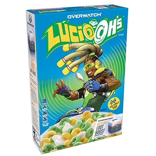 Kellogg's Overwatch Lucio-Oh's, Breakfast Cereal, Sonic Vanilla, 10.1 Ounce -