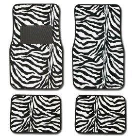 zebra floor mats for car - 9