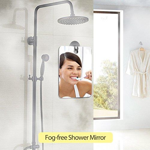 Docamor Fogless Mirror Fog-free Shower Mirror Anti-Fog Bathroom Mirror for