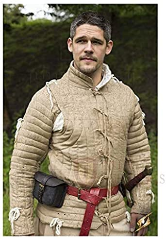 Cotton Fabric Camel The Medieval Shop Thick Padded Full Sleeves Gambeson Coat Aketon Jacket Armor