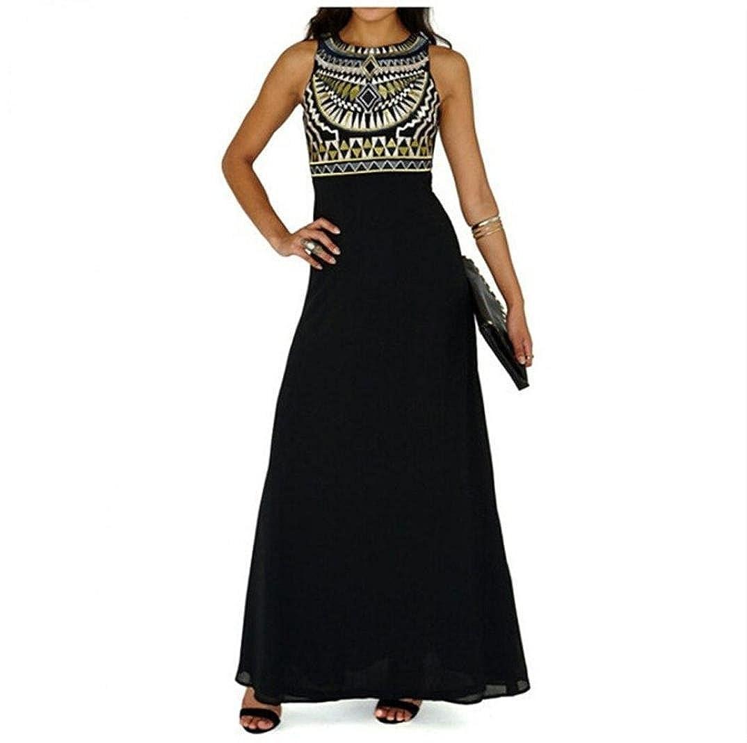 2fd2798dee47c Amazon.com: AmyDong Hot Sale! Ladies Dress, Women's Summer Boho Long Maxi  Evening Party Beach Dress Chiffon Dress Ladies Fashion Long Dress: Clothing