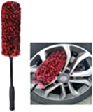 Unique Synthetic Wool Wheel Brush, Easy Reach Wheel and Rim Detailing Brush, Car Wheel Brush, Rim Cleaning Brush, Multipurpose Use for Wheels, Rims, Motorcycles, Bicycles, Boats, RVs
