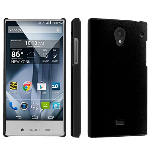 Sharp Aquos Crystal (Virgin Mobile, Boost Mobile, Sprint) (Jet Black) Sleek Clip Cover Case by [SkinGuardz]
