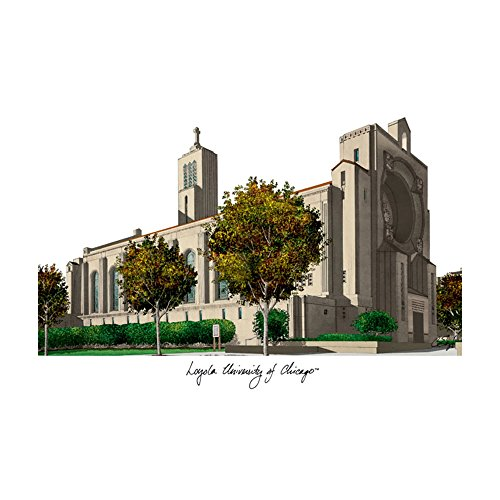 Campus Images Loyola University Chicago Campus Images Lithograph Print
