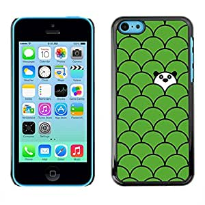 PC/Aluminum Funda Carcasa protectora para Apple Iphone 5C scale pattern panda cute green sweet / JUSTGO PHONE PROTECTOR