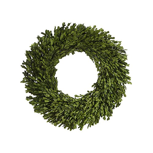 22 Inch Real Boxwood Wreath- Preserved