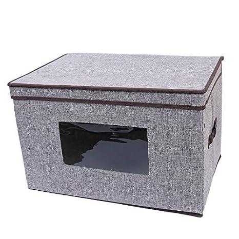 eDealMax lino plegable Familia Escudo Titular del edredón caja de Libro de caja de almacenamiento DE
