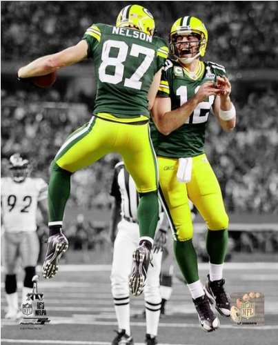 aaron rodgers jordy nelson wallpaper. jordy nelson aaron rodgers green bay packers super bowl xlv spotlight photo (16\u0026quot; wallpaper