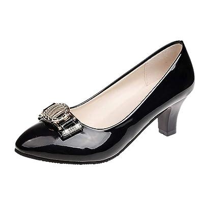 e54360c03b2e7 Amazon.com | Women Fashion Casual Round Toe Crystal Shallow Med ...