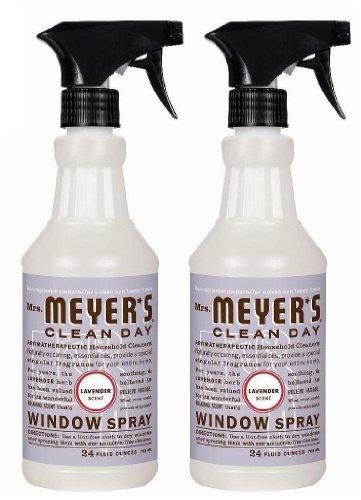 Mrs. Meyer's Clean Day Window Spray Glass Cleaner- Lavender  (2 (Lavender Glass)