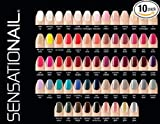 (US) Sensationail Color Gel Polish 10-Piece Collection Set No Repeats Random Assortment