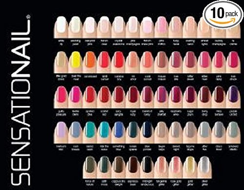 Sensationail Color Gel Polish 10-Piece Collection Set No Repeats Random