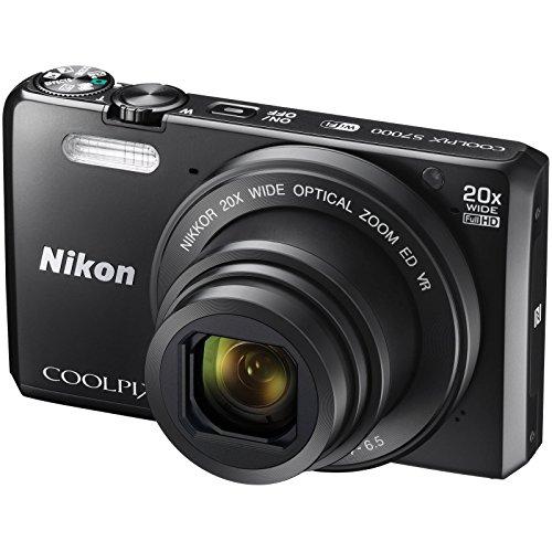 Nikon Coolpix S7000 Wi-Fi Digital Camera (Black) with 16GB Card + Case + Battery + Flex Tripod + Kit