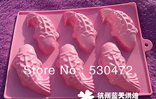 Fish Shaped - Wholesale Retail 6 Holesilicone Cake Mold Soap Fish Shape 22.5 16.5 3.5cm - Suckers Maker Labels Downrigger Pillow Notepad Drawer Weights Water Vase Metal Dinner H