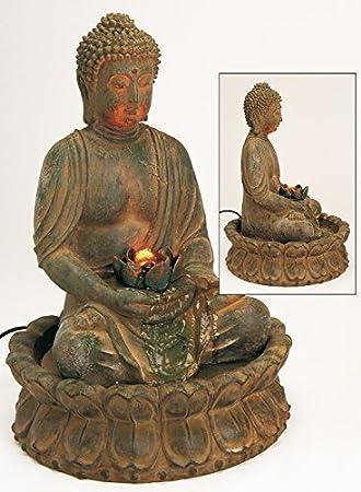 Brunnen Beleuchtung Außenbereich | Amazon De Edler Brunnen Buddha 48cm Hohe Braun Auch Fur Aussenbereich