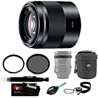 Sony SEL50F18 SEL50F18/B 50mm f/1.8 Lens with Tiffen 49mm UV Protector and 49mm Circular Polarizer Polarizing Lens Filter + Accessories