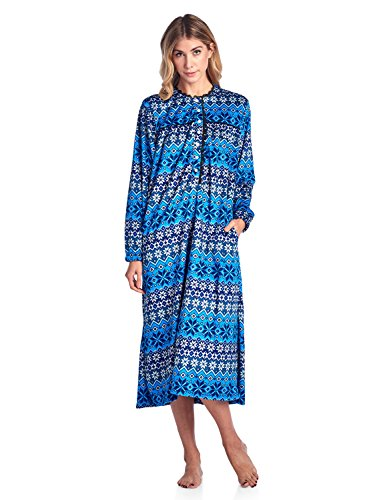 Ashford   Brooks Women s Micro Fleece Long Sleeve Nightgown  c0995344d