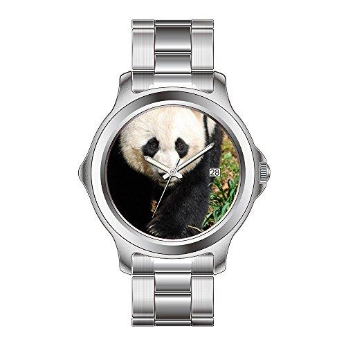 Fdc Bear - FDC Christmas Gift Watches Women's Fashion Japanese Quartz Date Stainless Steel Bracelet Watch Adorable Panda Bear Wristwatch