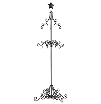 tall metal christmas stocking holder stand black by improvement - Christmas Images Black And White
