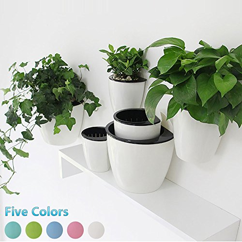Cheap  Creative Self-watering Hanging Planter,Beautifull Multi-color Flowerpot,Wall Mounted Plants Holder w/ Longtime Water..