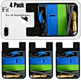 walmart gas card - Liili Phone Card holder sleeve/wallet for iPhone Samsung Android and all smartphones with removable microfiber screen cleaner Silicone card Caddy(4 Pack) Gas nozzles at the gas station A row of 2 dif