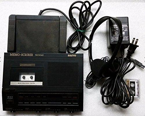 Sanyo TRC 5040 Memoscriber Microcassette Transcriber W/foot Switch, Ac Adapter, (Portable Cassette Recorder Ac Adapter)