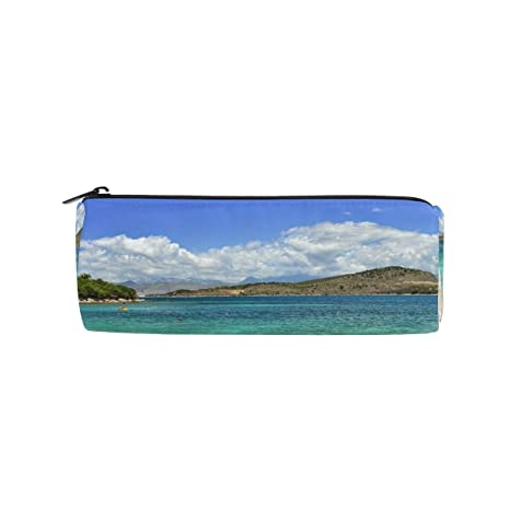 Amazon.com: Estuche para lápices de verano, vista a la playa ...