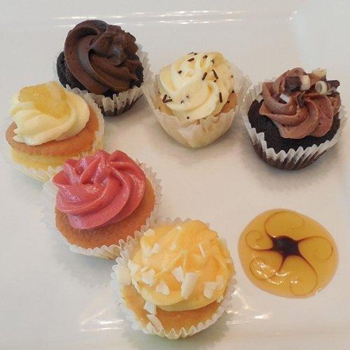 Best Mini Cupcake Assortment for Party - Gourmet Frozen Desserts (45 Piece Tray) (Mini Gourmet Cupcakes)