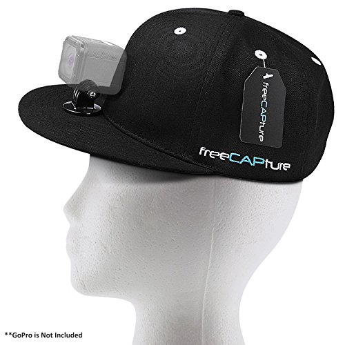 Hat Compatible with Removable GoPro Camera Head Mount - Hero Action Camcorder HD Edition - Go Pro 4 Silver , 3 + Black , 2 White , 1- Helmet Accessory Strap Caps Harness Studio (What City Is Central Michigan In)