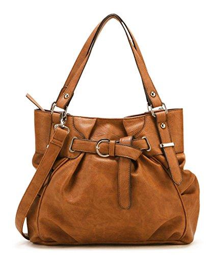 Scarleton Women's Vintage Tote Bag H124525 - Camel