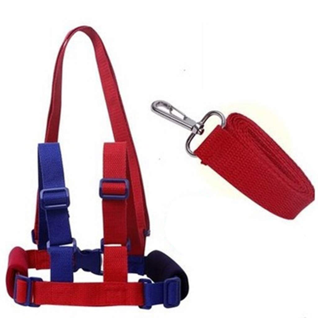 Anti-Lost Band Baby Kid Child Safety Harness Anti Lost Strap Wrist Leash Walking (Color : Blue+Red)