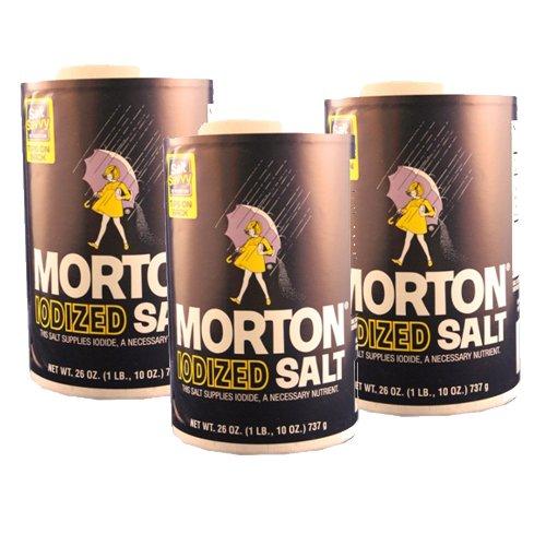 Morton Iodized Salt 26oz 3pcs by Morton